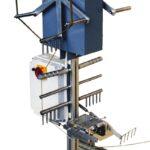 Skein winder for welding furnace