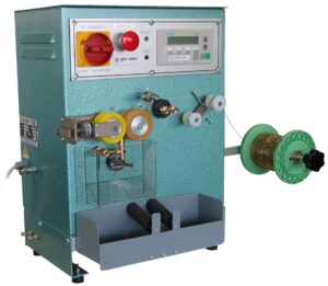 Vertical chain-cutter with digital instrument and strercher